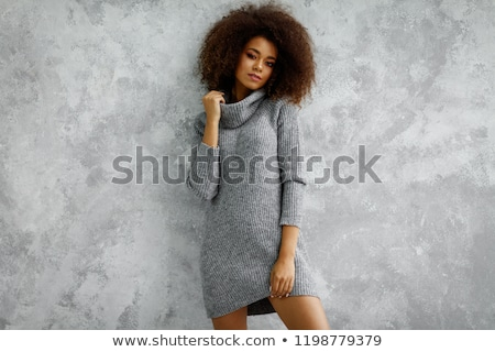Young beautiful fashion model wearing knitwear  Stock photo © DenisMArt