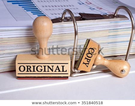 folders with the label original and plagiarism stock photo © zerbor