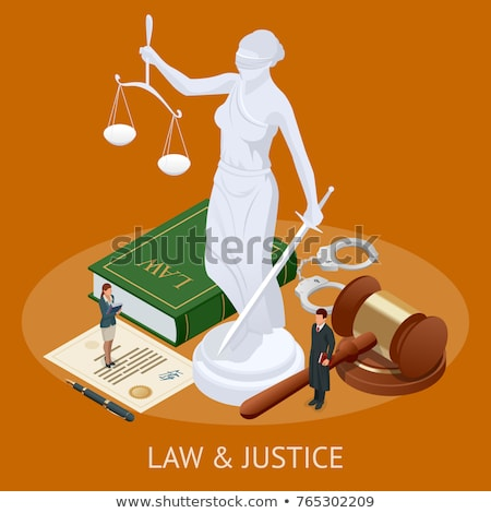 Law and justice isometric concept Stock photo © studioworkstock