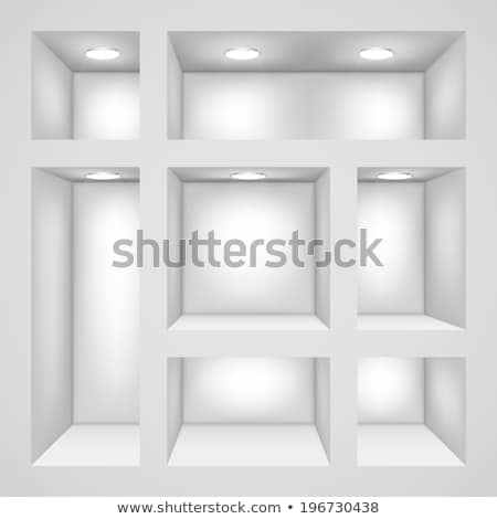 Vector design of empty bookshelves Stock photo © studioworkstock