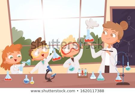 мальчика химии урок образование науки столе Сток-фото © IS2