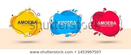 ストックフォト: 抽象的な · ボタン · テンプレート · 技術 · 幾何学的な · バッジ
