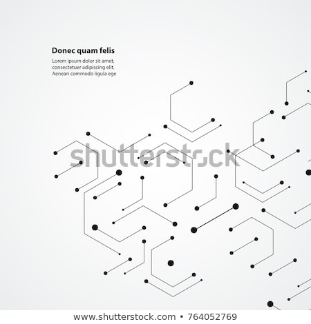 Hexagons concept with lines and dots Stock photo © designleo