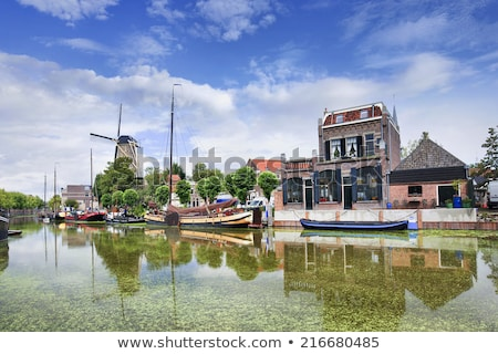 Canale all'alba meridionale Holland Paesi Bassi città Foto d'archivio © benkrut