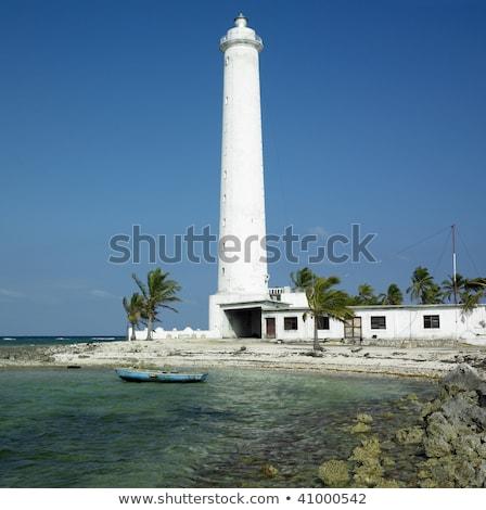 lighthouse cayo sabinal camaguey province cuba stock photo © phbcz