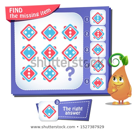 Find the missing item square iq Stock photo © Olena