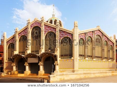 central · mercado · Valência · Espanha · 24 · fachada - foto stock © CsDeli