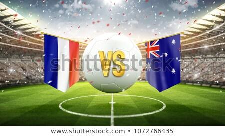 Futball gyufa Franciaország vs Ausztrália futball Stock fotó © Zerbor