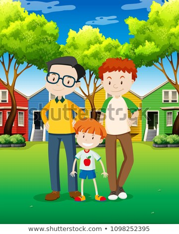 LGBT Adoption Family at Village Stock photo © bluering
