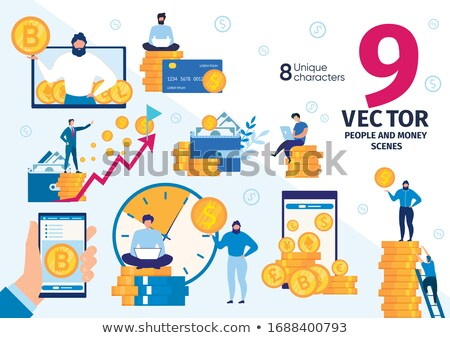 An Office Worker Mining Bitcoin Stock photo © bluering