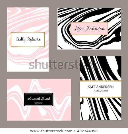 Stylish Marmor Textur Visitenkarte Design