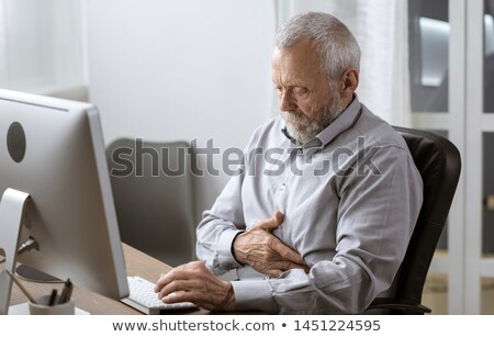 An Old Man Having Stomachache Stock photo © bluering