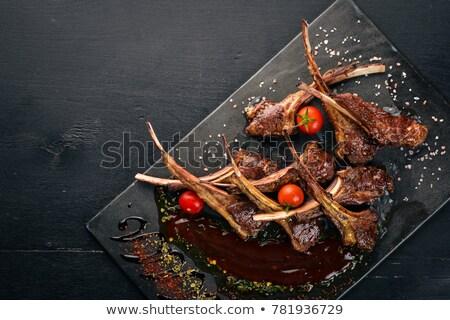 steak · vesepecsenye · hús · étel · pop · art · retro - stock fotó © bluering