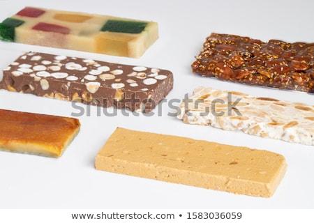 Suave chocolate dulces blanco placa flores Foto stock © Melnyk