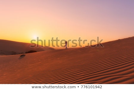 Stockfoto: Rood · zand · zonsondergang · Vietnam · verbazingwekkend · landschap
