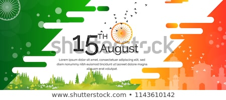 creative banner design for indian independence day 15th of augus Stock photo © SArts