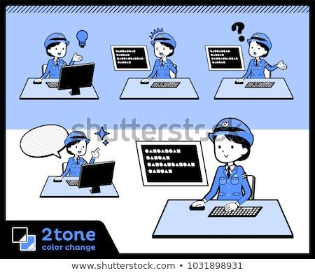 tipo · polícia · internet · fundo · homens · comunicação - foto stock © toyotoyo