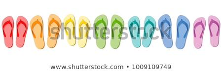 Zöld papucs úszómedence 3d illusztráció tengerpart nyár Stock fotó © magraphics