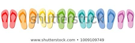 groene · witte · strand · zomer - stockfoto © magraphics