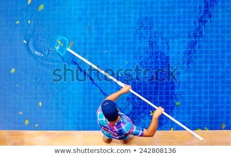 jardim · piscina · quintal · rocha · ao · ar · livre · residencial - foto stock © nito