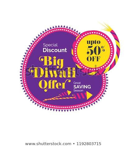 big diwali sale poster design stock photo © sarts