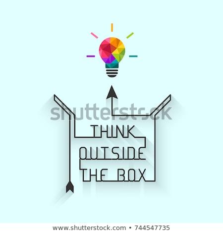 Pensar fora caixa criatividade criador negócio Foto stock © Lightsource