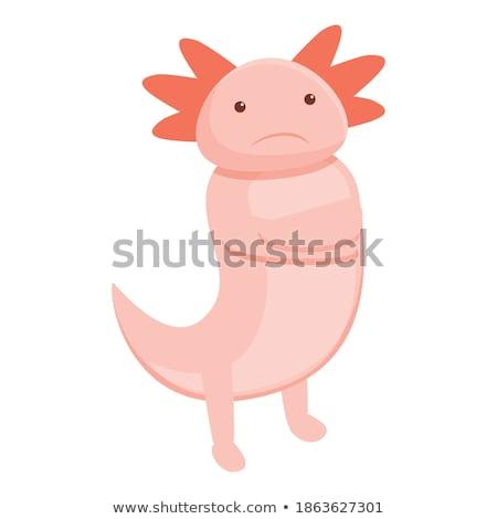 sad cartoon salamander stock photo © cthoman