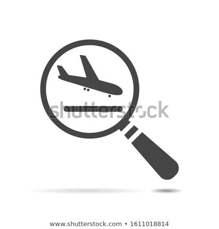 Nagyító néz repülés izolált webes ikon háló Stock fotó © Imaagio