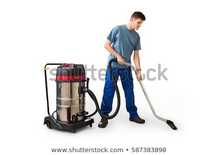 zakenman · schoonmaken · kantoor · portret · jonge · business - stockfoto © elnur