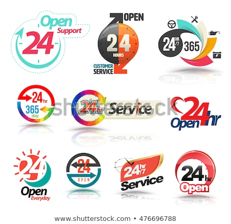 Call center, 24 hours a day service sign graphic . stock photo © kyryloff
