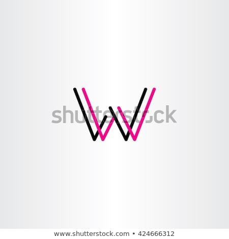 Fekete magenta w betű logo logotípus szimbólum Stock fotó © blaskorizov