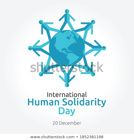 Solidarity Day banner of diverse people community Stock photo © cienpies