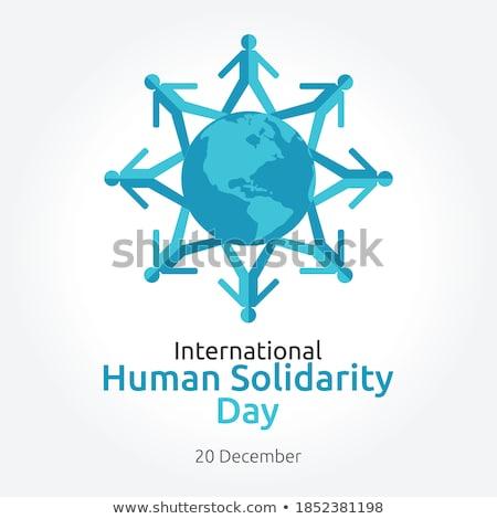 solidariedade · dia · bandeira · diverso · pessoas · comunidade - foto stock © cienpies