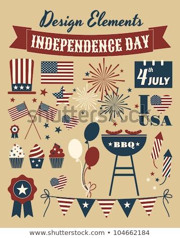 Amerykański flagi dzień uroczystości wakacje Zdjęcia stock © dolgachov