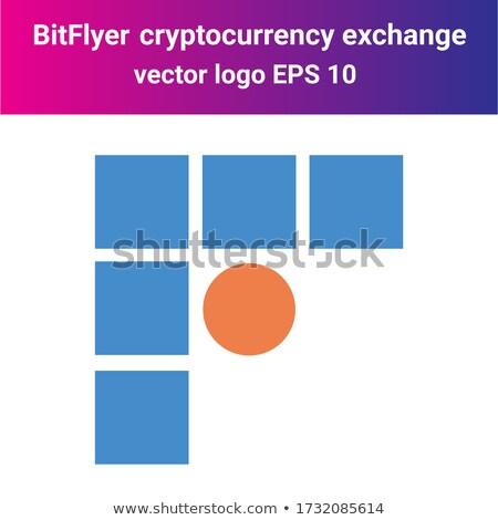 Exchange - Bitflyer. The Crypto Coins or Cryptocurrency Logo. Stock photo © tashatuvango