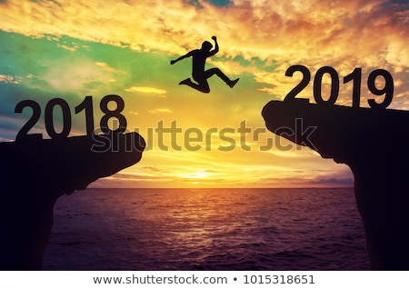 Businessman with 2018 and 2019 years Stock photo © Elnur