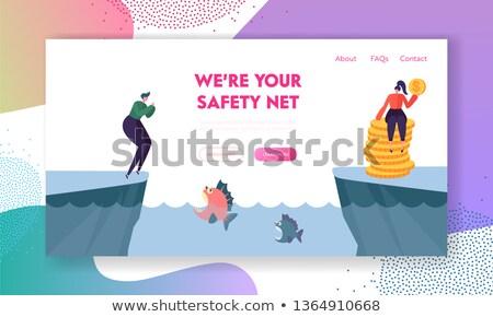 Bać cartoon piranha ilustracja patrząc strach Zdjęcia stock © cthoman