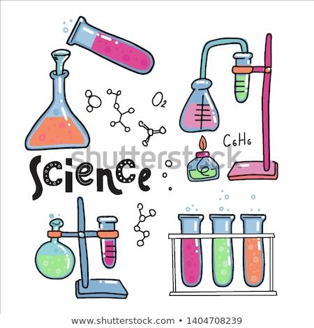 Chemie · Klasse · Schule · Lehrer · schauen · Reagenzglas - stock foto © dolgachov