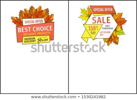 Speciale esclusivo offrire buy poster rovere Foto d'archivio © robuart