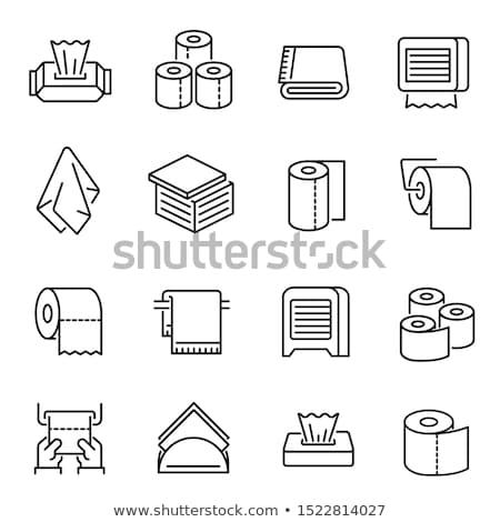 Carta igienica rotolare icona vettore clipart etichetta Foto d'archivio © blaskorizov