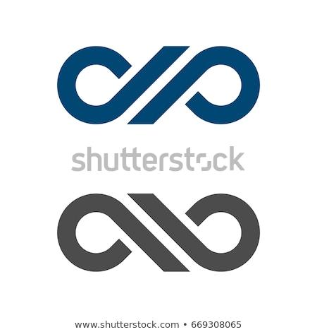 Vektör mektup logo ikon daire simge Stok fotoğraf © blaskorizov