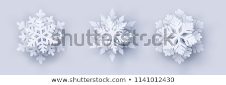 christmas snowflake party paper decoration vector stock photo © robuart