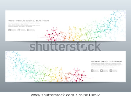 set of horizontal banners about physics stock photo © netkov1