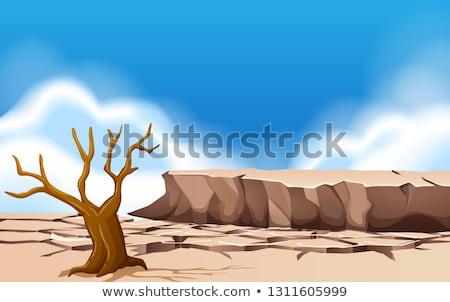 Gruntów dzień czasu ilustracja charakter tle Zdjęcia stock © bluering