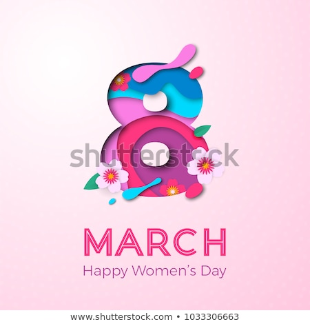 8 march ornate text greeting card womens day Stock photo © orensila