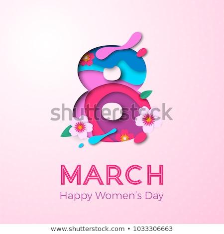 tarjeta · de · felicitación · día · de · la · mujer · madres · día · resumen · madre - foto stock © orensila