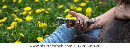 girl sitting in th park Stock photo © your_lucky_photo
