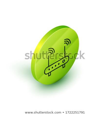 green outline wi fi sign 3d stock photo © djmilic