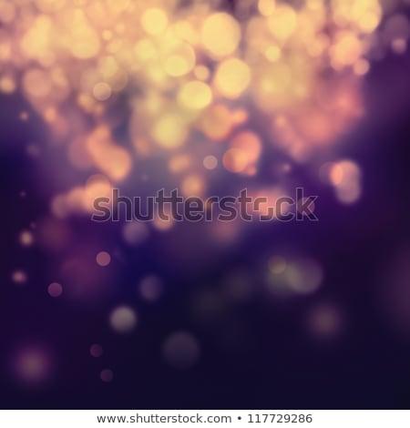 Defocused Christmas garland lights on dark background Stock photo © furmanphoto