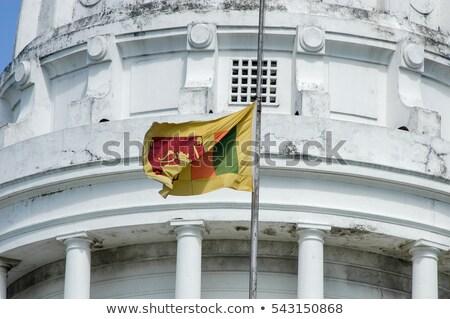 Ház zászló Sri Lanka csetepaté fehér házak Stock fotó © MikhailMishchenko